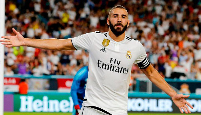 Real Madrid Thuisshirt 2018-2019 Benzema
