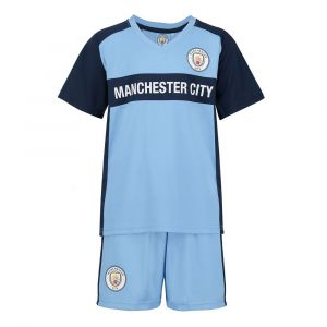 Manchester City Voetbaltenue Thuis Eigen Naam Kids