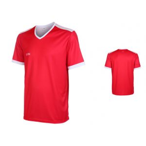 VSK Fly Voetbalshirt Eigen Naam Rood-Wit